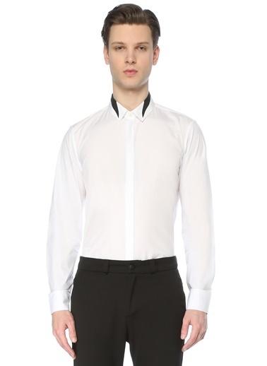 Neil Barrett Neil Barrett   Yaka Detaylı Gömlek 101633666 Siyah